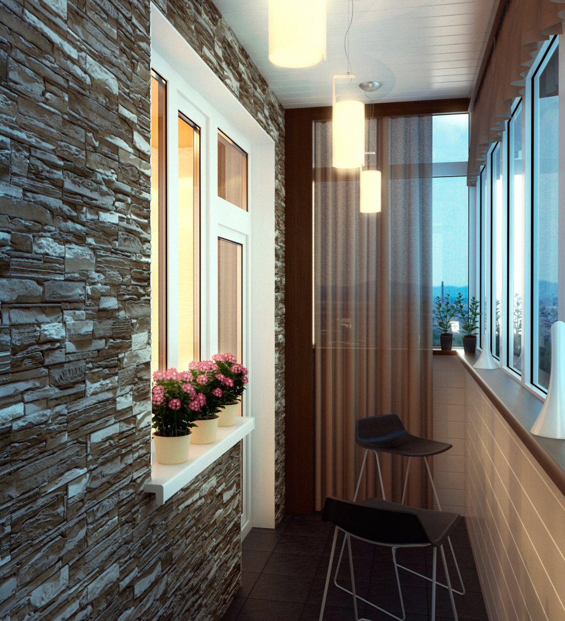 Варианты отделки балкона внутри: отделочные материалы и фото оформления