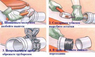 Как заделать трещину в чугунной канализационной трубе