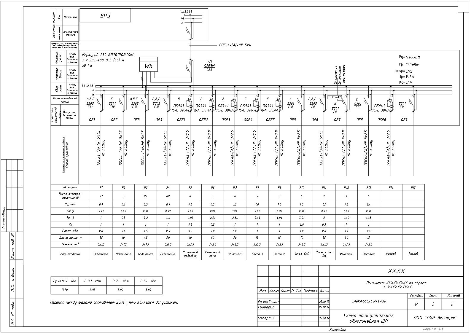 Правила оформления и примеры однолинейной схемы электроснабжения