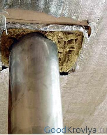 Как сделать теплоизоляцию дымовых труб и что использовать