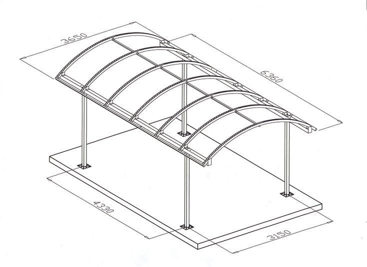 Строительство навеса с односкатной крышей