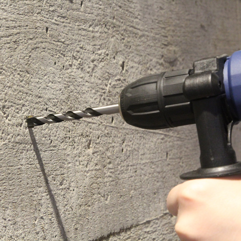 Установка розеток в бетонную стену: сверление отверстий