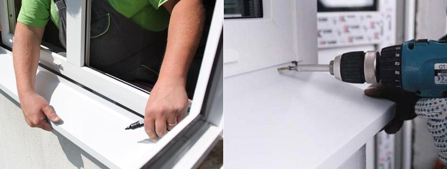 Как крепить отлив к пластиковому окну своими руками