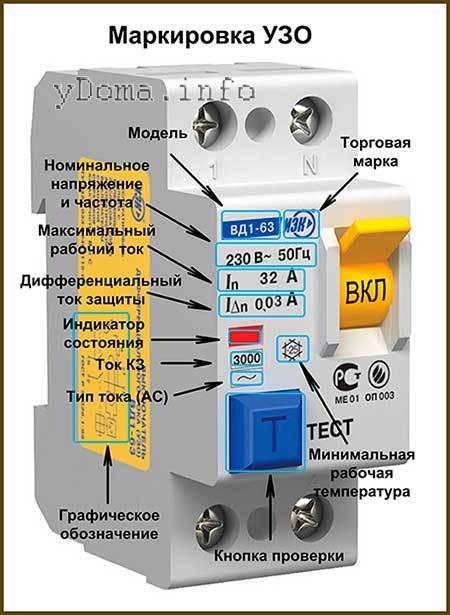 Схема подключения и технические характеристики автомата на 25 ампер