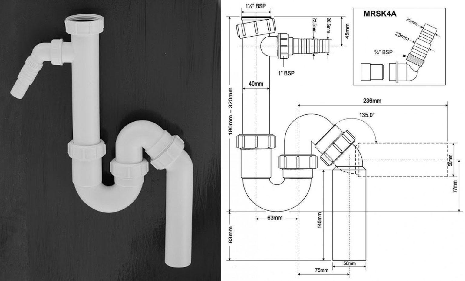 Выбор и установка сифона для мойки (раковины) на кухню