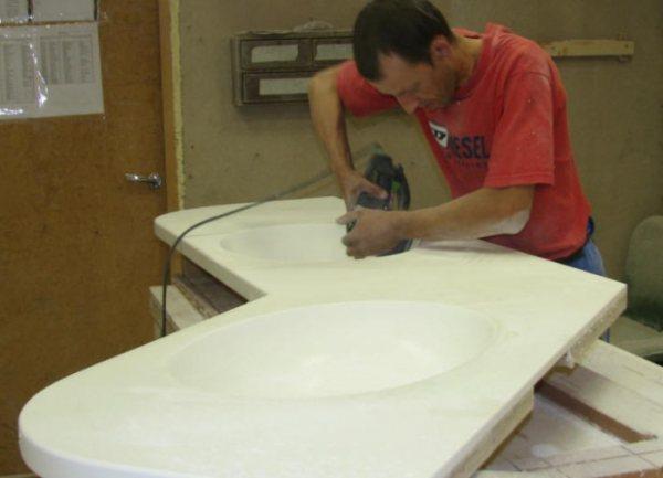 Изготовление столешницы из искусственного камня своими руками