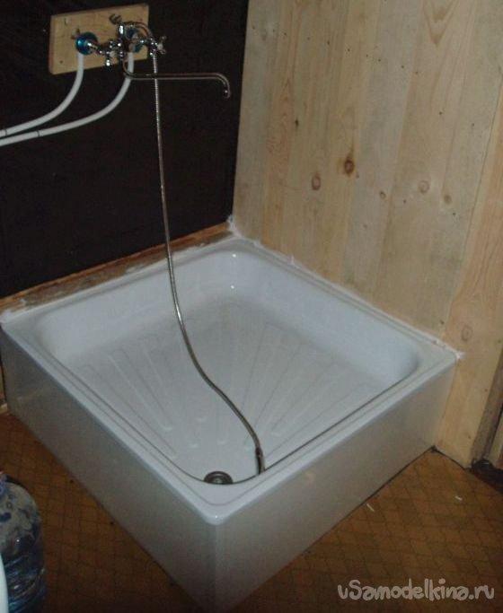 Как сделать душевую в бане своими руками