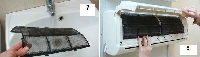 Очистка фильтров, внешнего и внутреннего блоков кондиционера своими руками