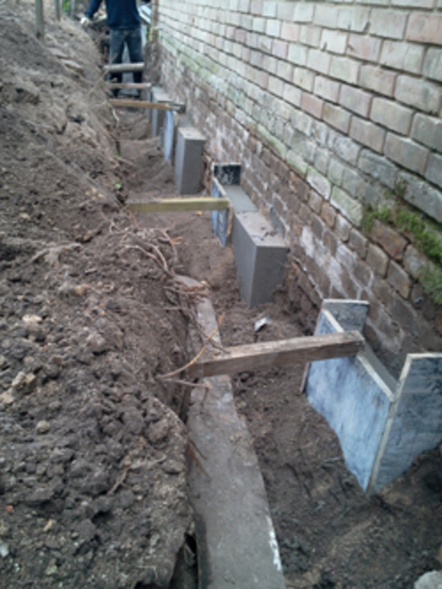 Как укрепить фундамент дома своими руками