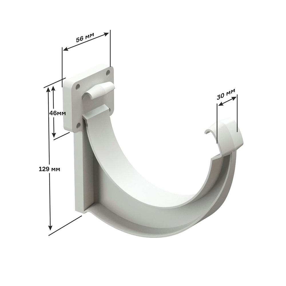 Способы установки держателя водосточного желоба