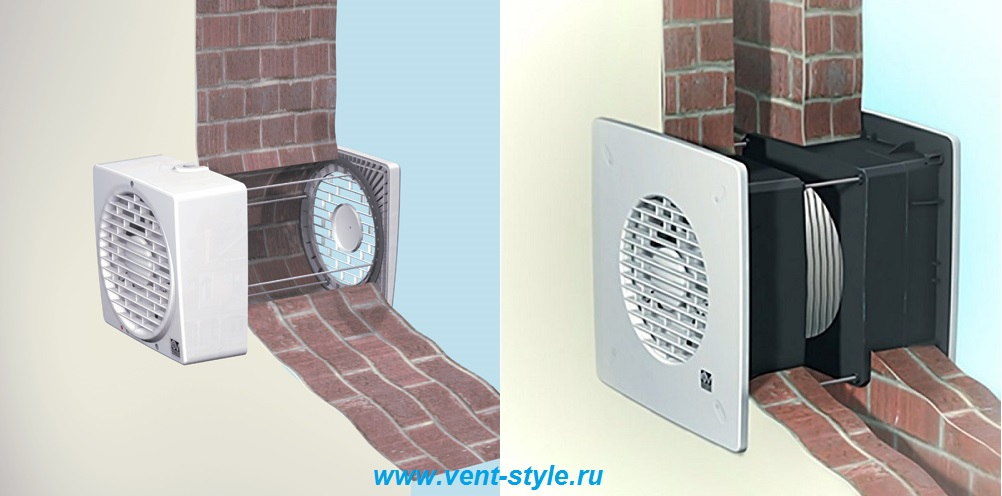 Вывод вытяжки вентиляции через стену на улицу