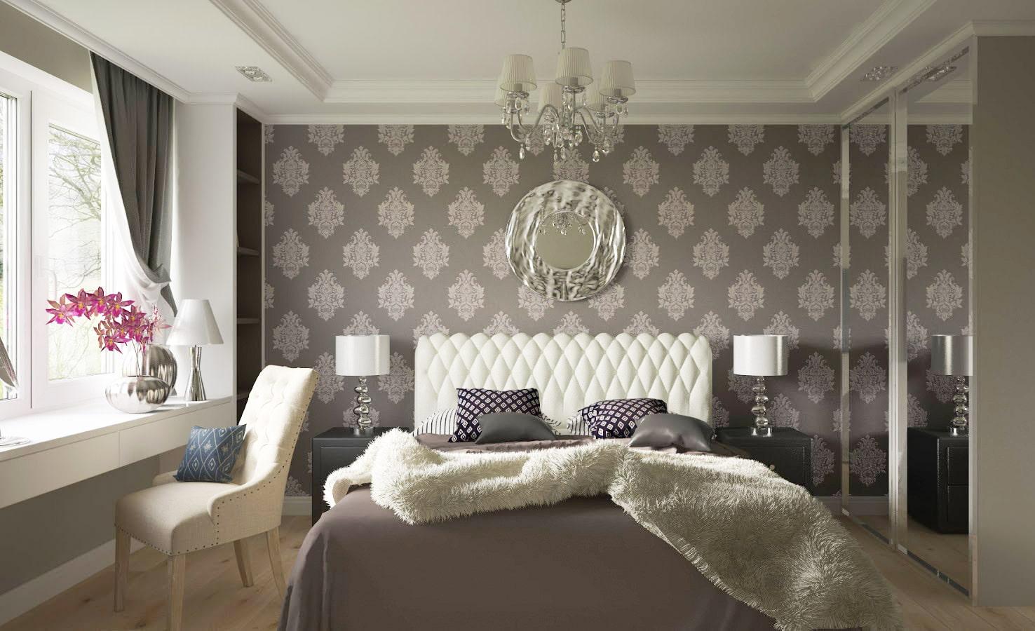 Какие обои выбрать для спальни: правила подбора и 50 фото интерьеров