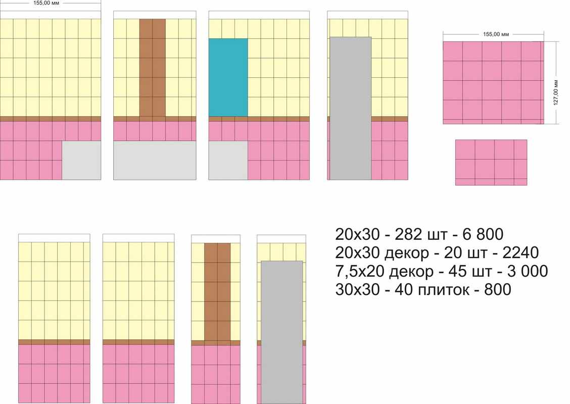 Калькулятор расчета необходимого количества керамической плитки