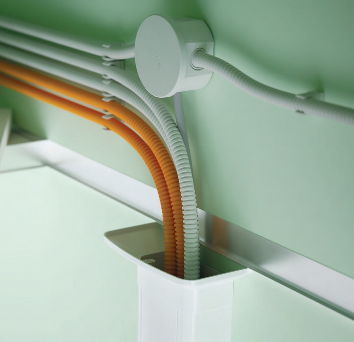 Стальные гофрированные трубы для электропроводки