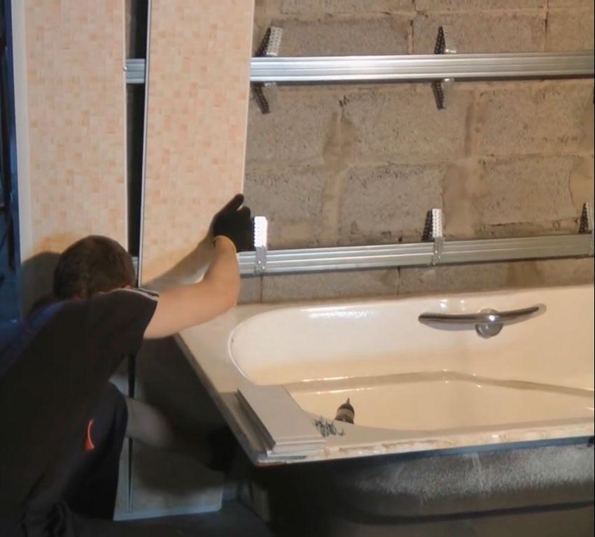 Обшивка ванной комнаты ПВХ панелями: делаем по инструкции обшивку ванной комнаты панелями пвх