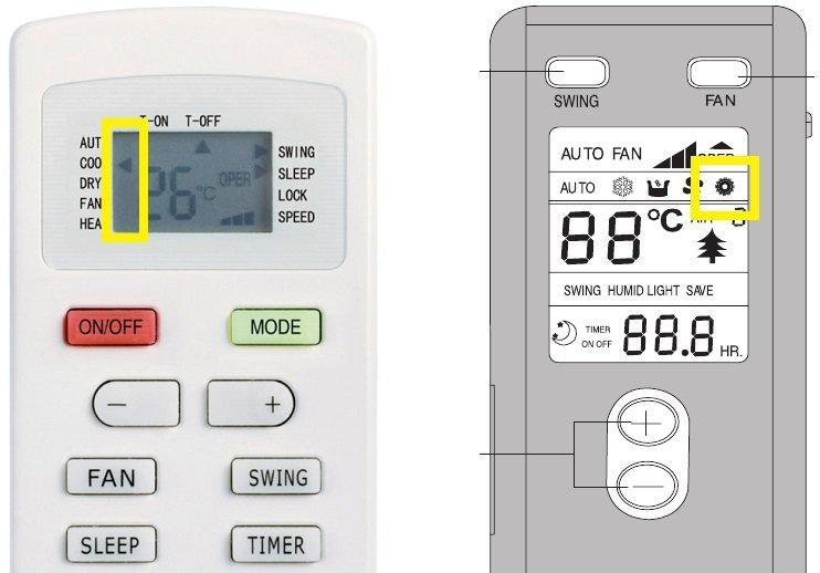 Как включить и настроить на кондиционере теплый воздух