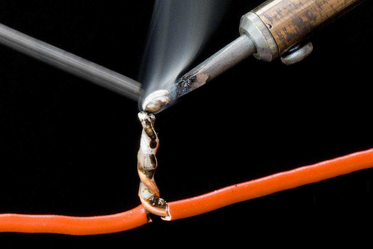 Как правильно спаять провода между собой — медные провода и скрутка