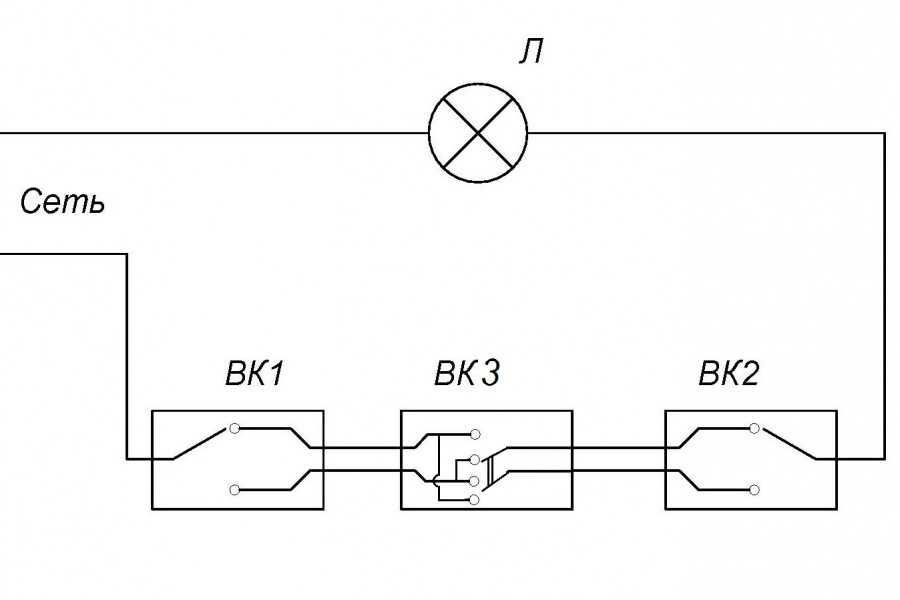 Подключение трехклавишного выключателя: схема и конструкция