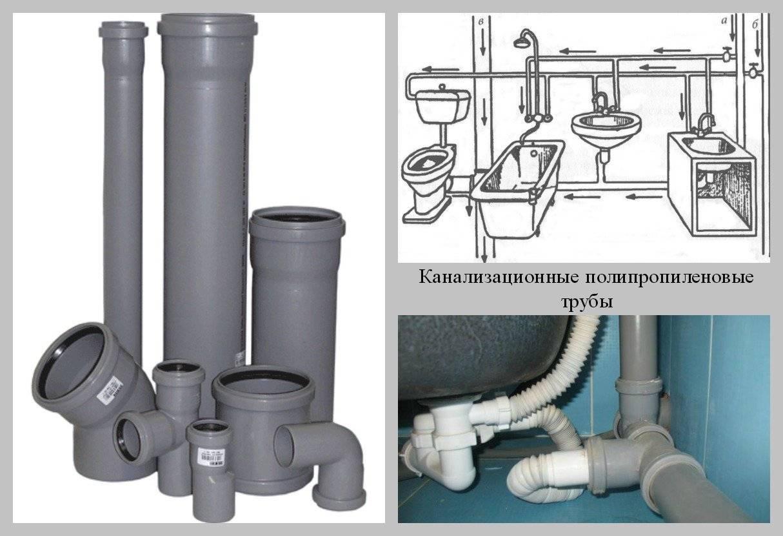 Как правильно монтировать трубы для слива канализации
