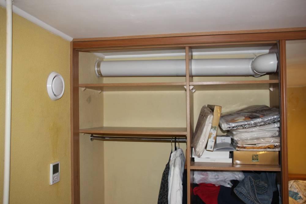 Как сделать вентиляцию и освещение в гардеробной