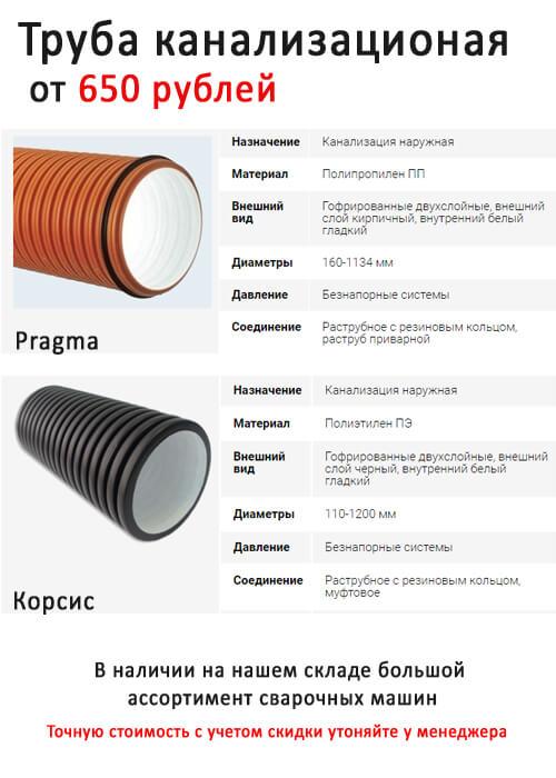 Как выбрать трубы для наружной канализации