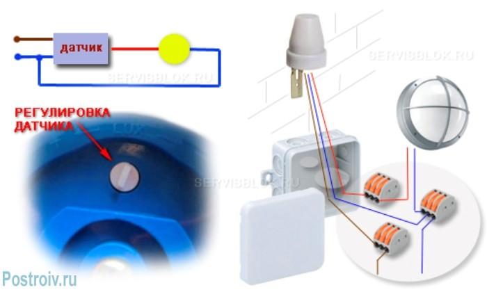 Как подключить уличный датчик освещения для включения света