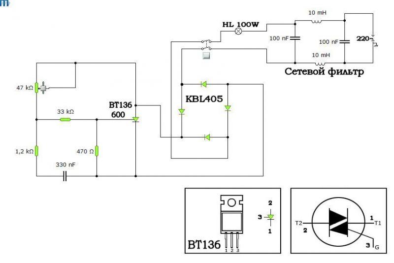 Тиристорные и симисторные регуляторы напряжения для индуктивной нагрузки