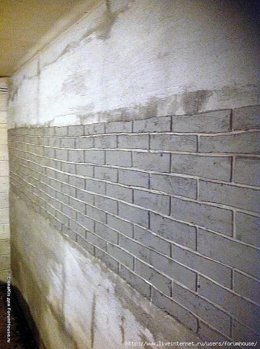 Как сделать декоративную кирпичную стену своими руками