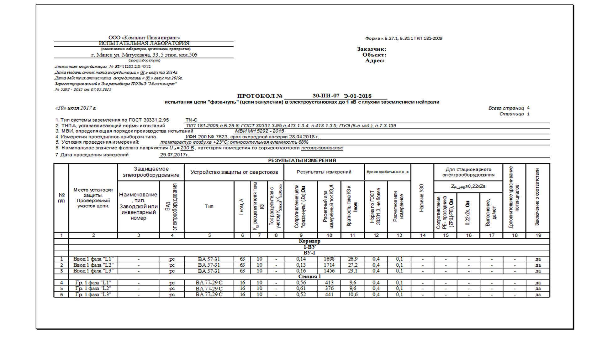 Методика и схема прогрузки дифференциальных автоматических выключателей