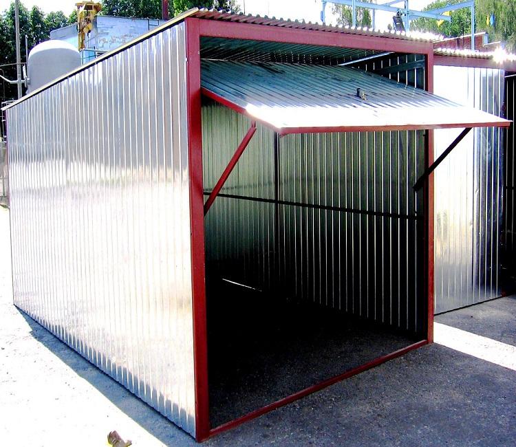 Как построить гараж из профнастила (профлиста)