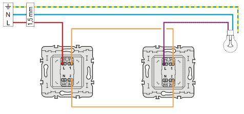 Как подключить проходной выключатель Легранд