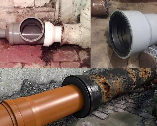 Как состыковать чугунную канализацию с пластиковой