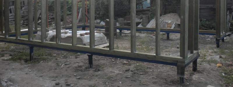 Как построить гараж на свайно-винтовом фундаменте