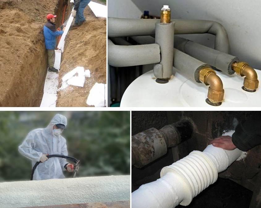Как утеплить трубы водоснабжения в частном доме: способы, материалы, ошибки