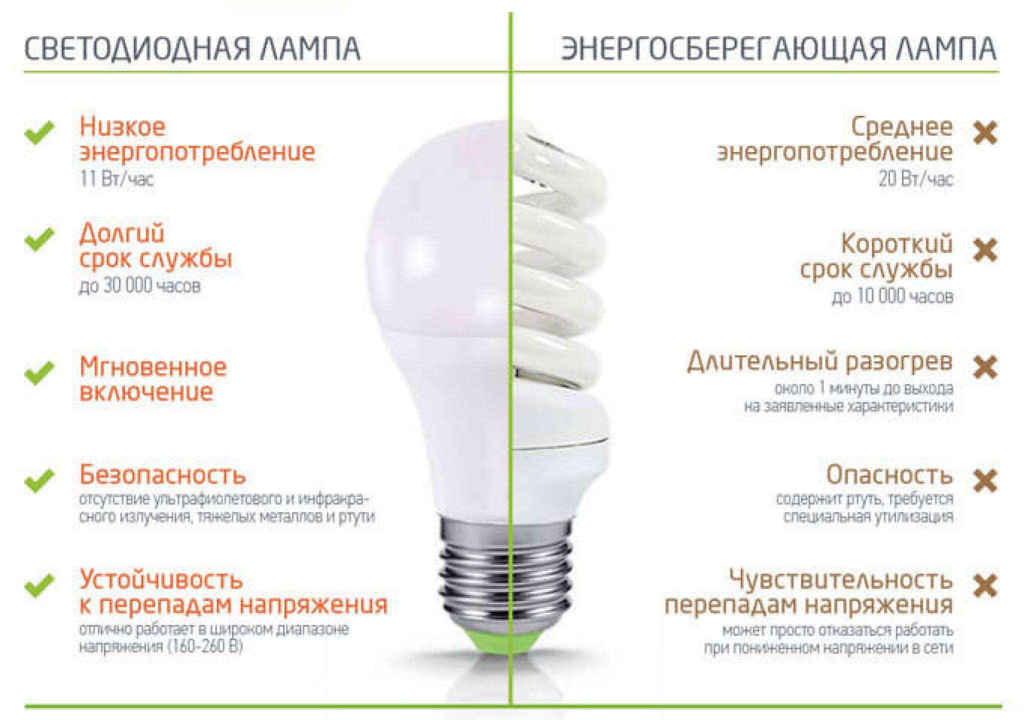 Самая экономная лампа для дома: энергосберегающая или светодиодная