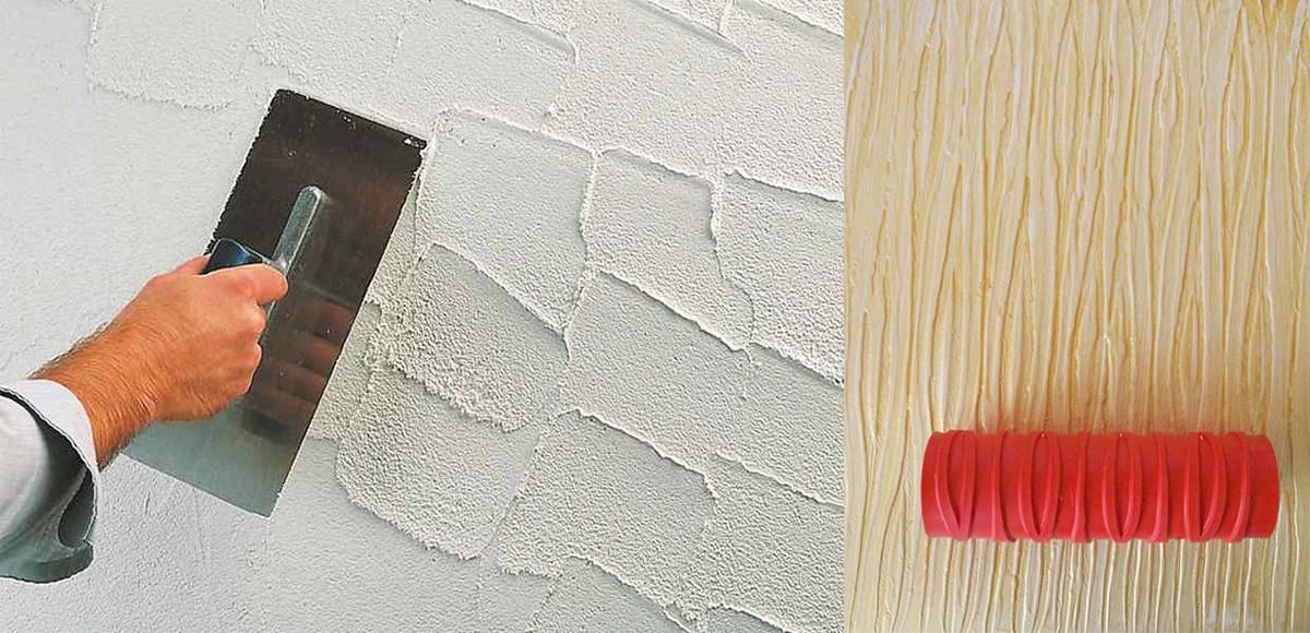 Фактурная краска для стен — идеальная замена обоям