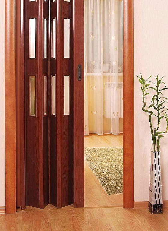 Как поставить складывающиеся двери (гармошка, книжка)