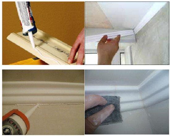 Как крепить потолочный плинтус: правильно раскраиваем и крепим на клей пластиковый потолочный плинтус