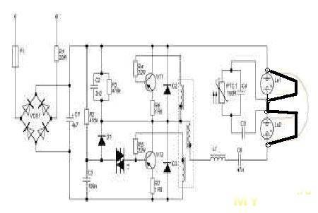Схемы энергосберегающих ламп и наиболее частые их неисправности