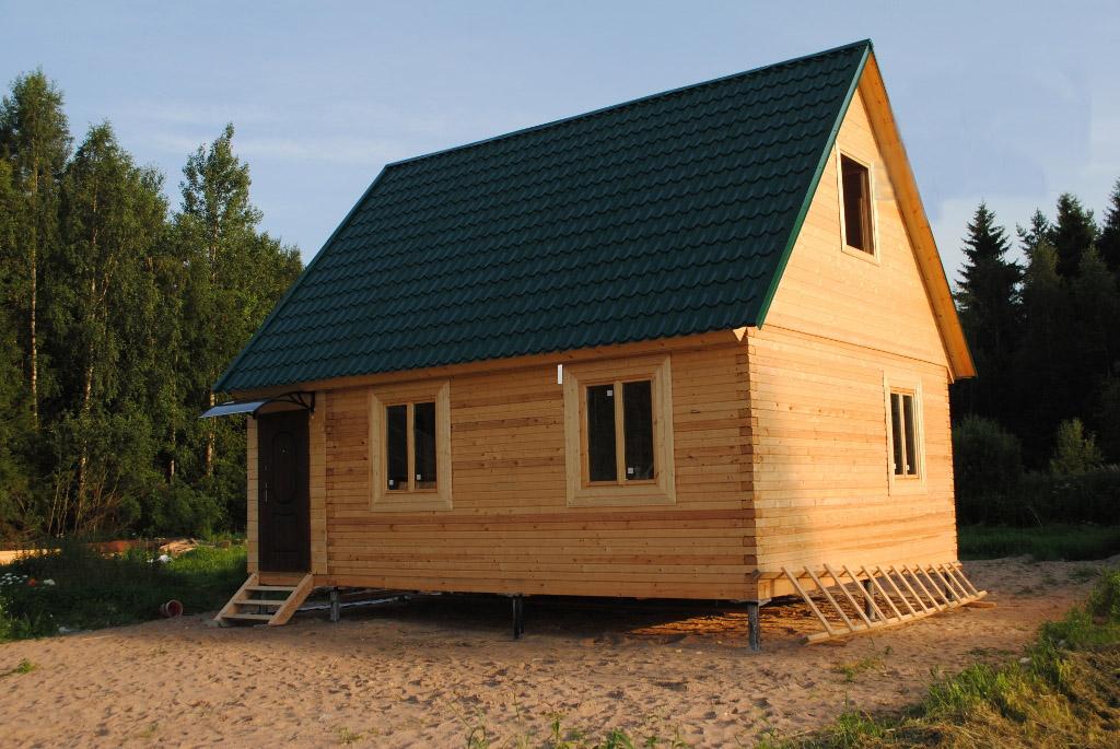 Как построить баню на свайном фундаменте