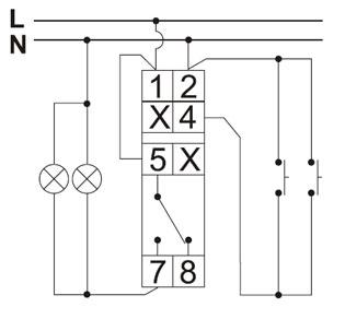 Подключение импульсного реле для управления освещением