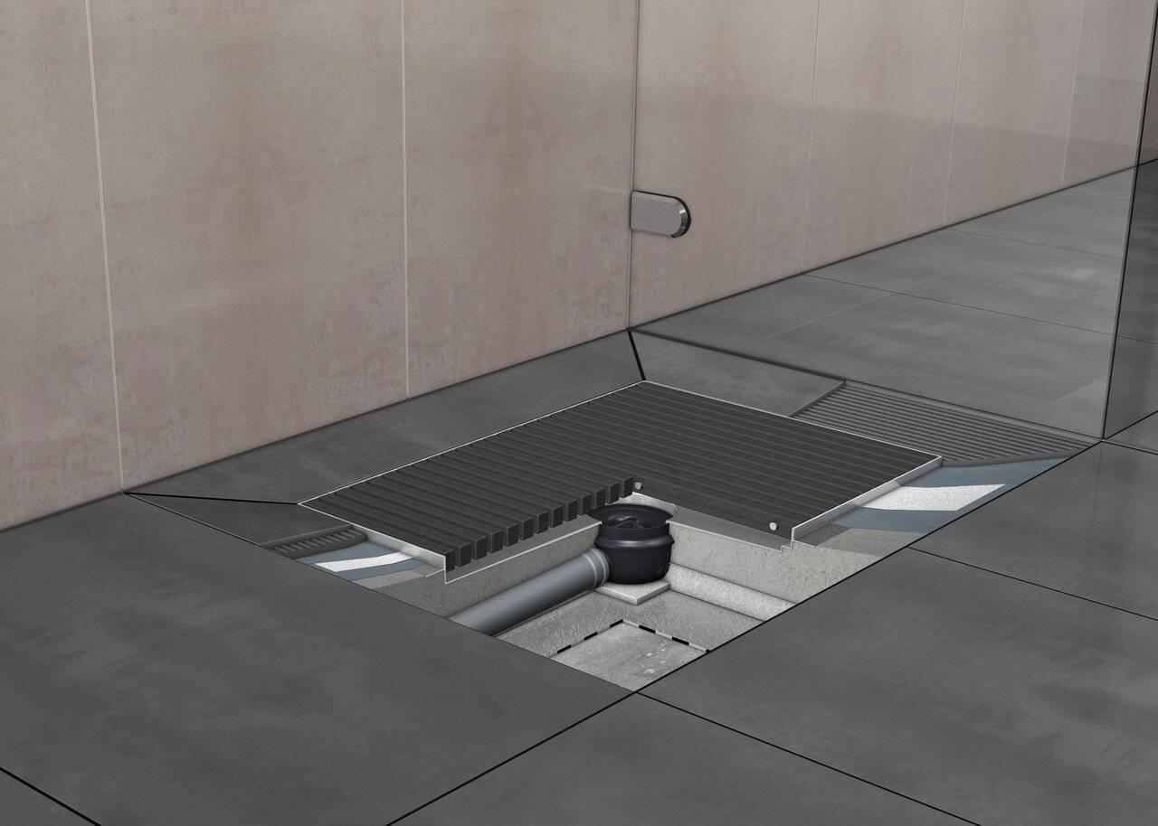 Как сделать слив в полу в душе, в бане