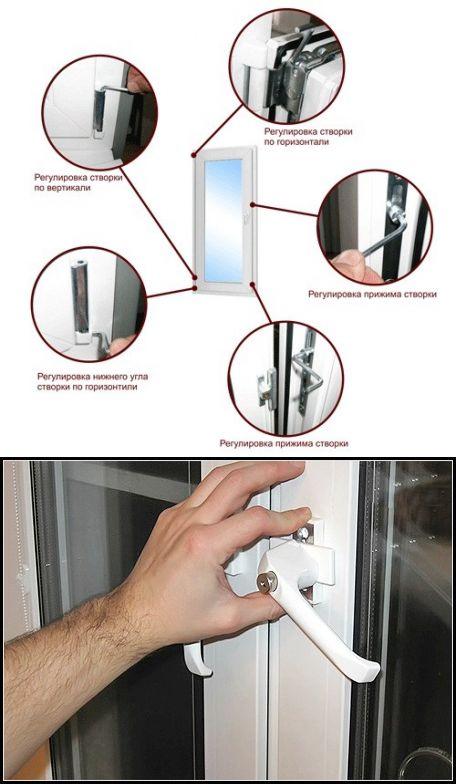 Как отрегулировать пластиковые окна самостоятельно