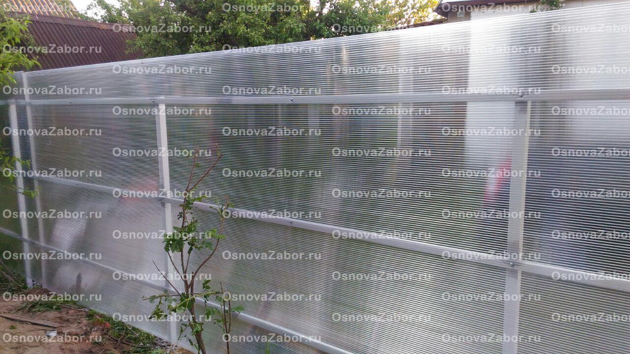 Забор из поликарбоната своими руками: пошаговые инструкции и фото к ним