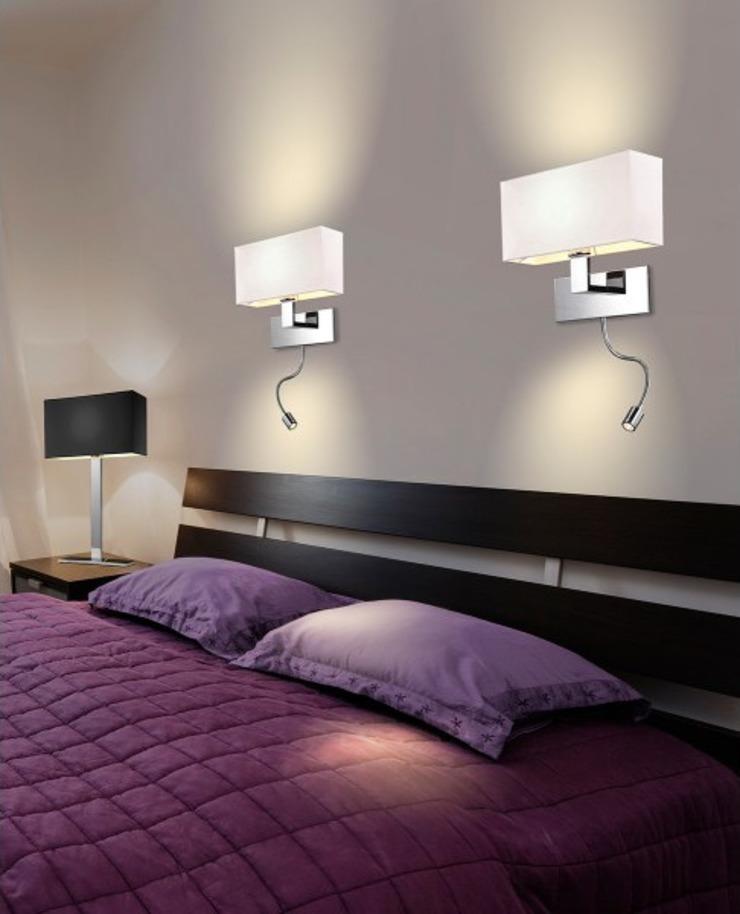 Бра над кроватью: разновидности и варианты над кроватью с фото примерами