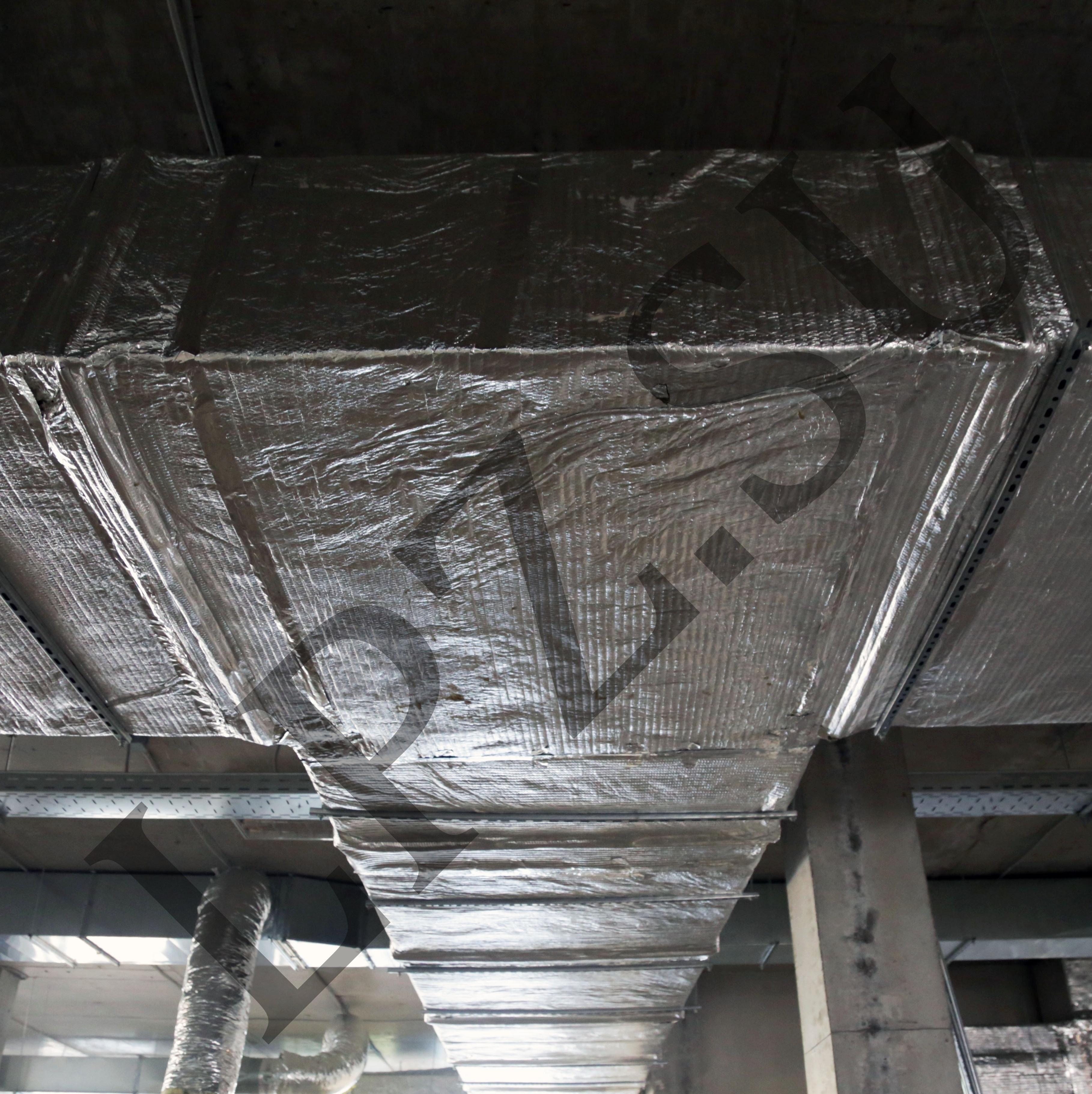 Монтаж огнезащитного покрытия воздуховодов