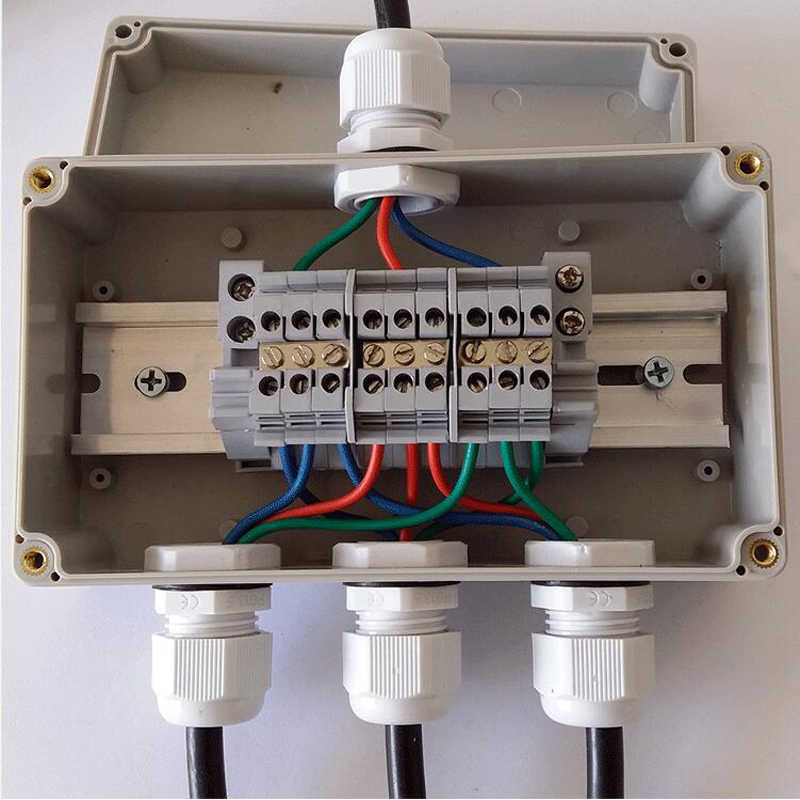 Распределительные коробки для электропроводки с клеммными колодками