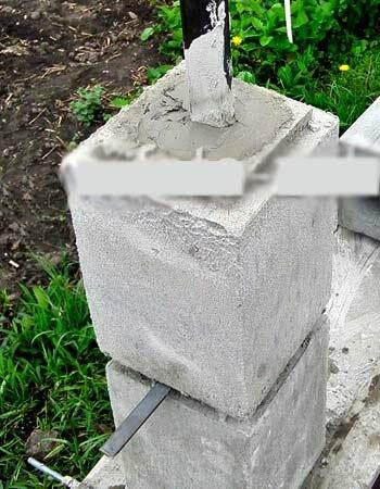 Наборные блоки для столбов забора