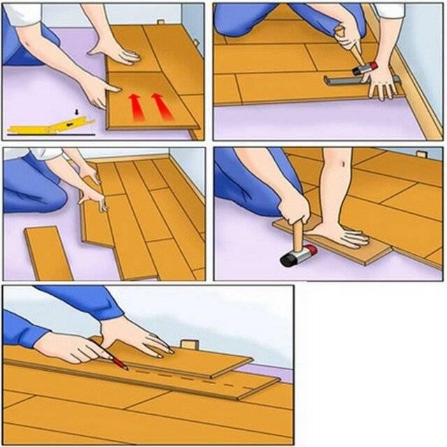 Как уложить пробку на пол