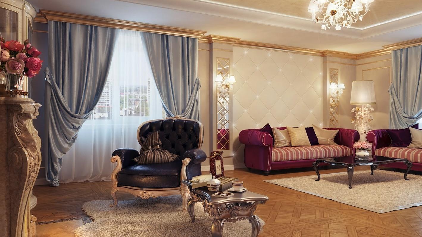 Идеи дизайна гостиной: зонирование, обои, мебель